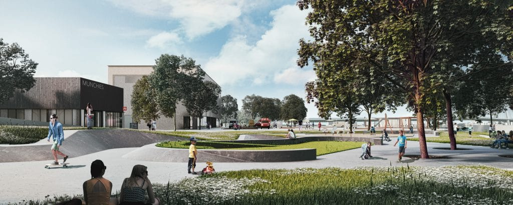 Architectural proposal for waterfront landscape in Warsaw