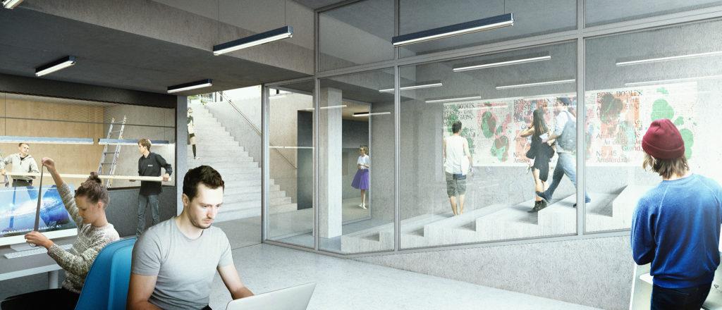 Basement workshop in Rietveld Academy