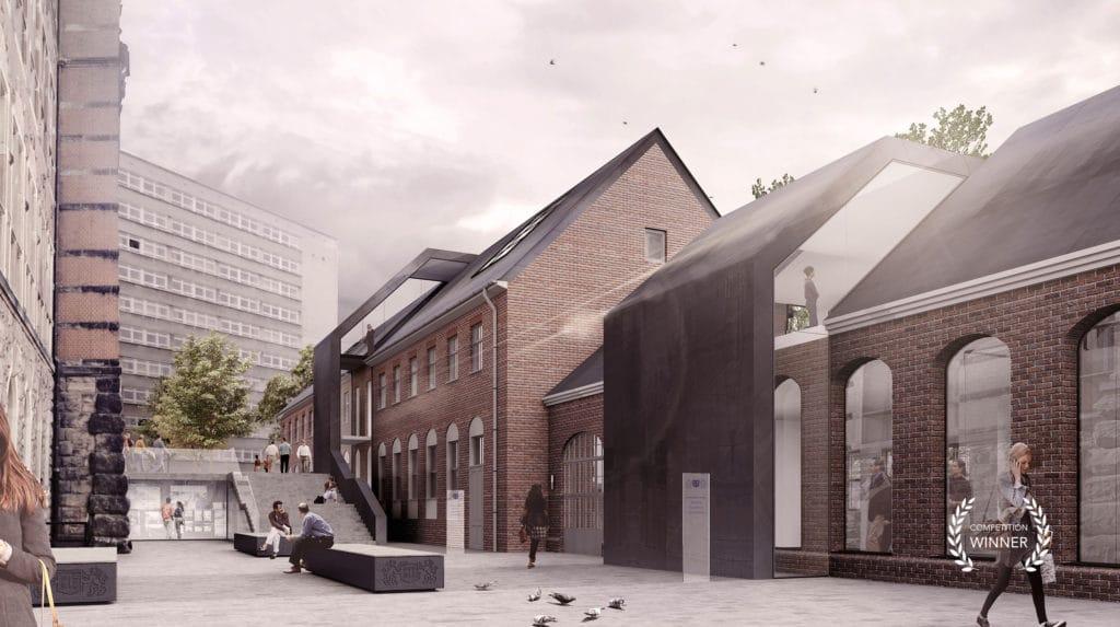 Winning visualization of Gdańsk University extension
